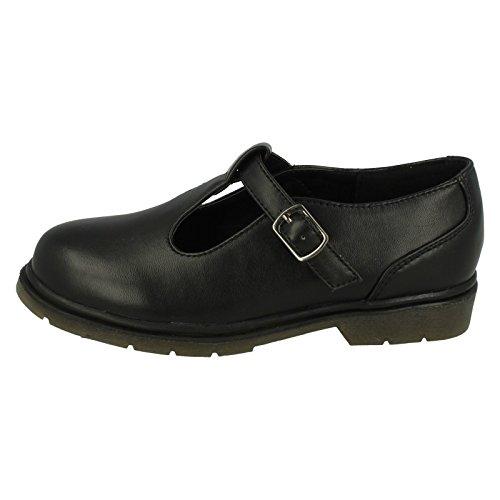 Girls Spot On Style 055brevet l'École Chaussures Noir