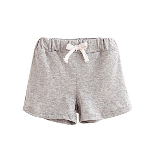 Bellelove Baby Shorts, Summer Children Cotton Shorts Boys and Girl Clothes for 1-6 Years Old (1-2 Years, Gray)