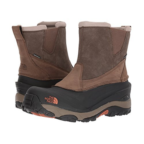 The North Face Chilkat III Pull-On Mudpack Brown/Bombay Orange Men's Boots (The North Face Schuhe Chilkats)