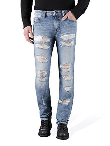 Diesel Thavar 0846y Herren Jeans Hose Slim Skinny (W30/L34, Blau)
