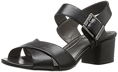 LifeStride Women's Rache Heeled Sandal, Black, 10 M US