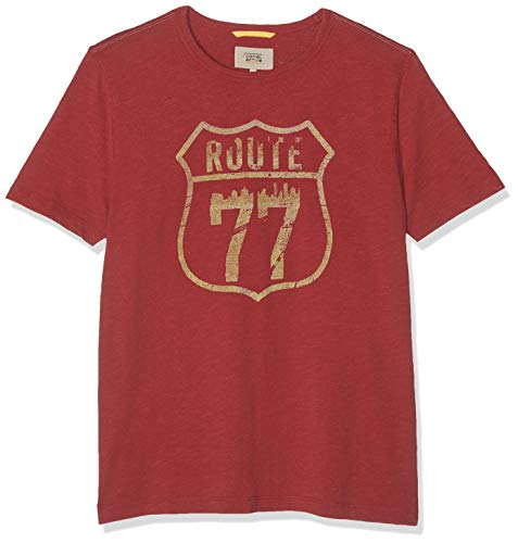 Camel Active Herren Regular Fit T-Shirt 1/2 118077, Rot (Dark Red Los + Core 42), Gr. L