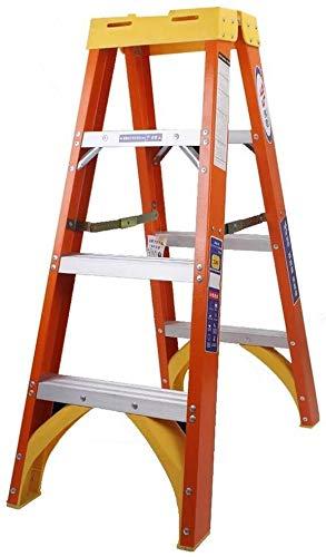 Klappstufen Klapptrittschemel Leiter Hocker, Compact Heavy Duty Stehleiter mit Plattform, Indoor Outdoor Trittleiter