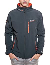 Geographical Norway TOWER MEN Anorak Chaqueta Gris para Hombre Dry Tech 4000