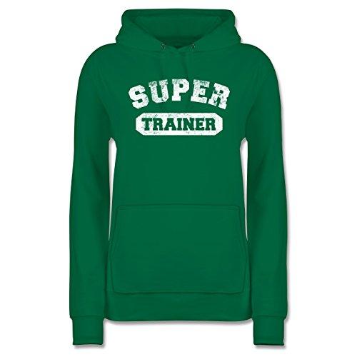 Fußball - Super Trainer Vintage - XXL - Grün - JH001F - Damen Hoodie