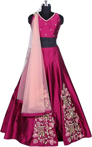 New Collection Latest Bollywood Designer Pink Embroidered Lehenga Choli