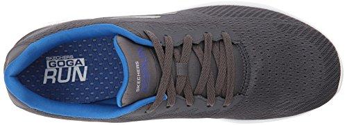 Skechers Performance Herren Go Run 400 Laufschuhe Grau (Charcoal/Blue)