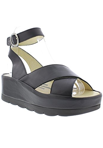 Fly London Womens Bite 850 Leather Sandals Black