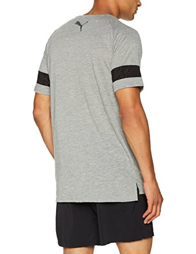 Puma Herren Raglan Energy Tee T-Shirt medium gray heather
