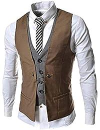 Adelina Gilet da Uomo Gilet da Uomo in Stile Britannico Abbigliamento  Blazer Casual Giubbotto A Due 75c0bb2bf0c