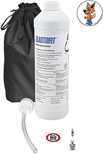 Elastofit Nachfüllpack Pannenset Reifendichtmittel Ersatzflasche für alle PKW/SUV usw. 10 Jahre haltbar (700ml)