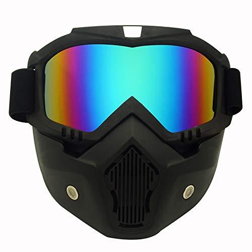 Off-objektiv (Yiph-Sunglass Sonnenbrillen Mode Neue Motorrad Helm Reiten Off-Road-Ausrüstung im Freien Harley Brille Maske High-End-Objektiv Maske Brille Männer Frauen (Color : Blue))