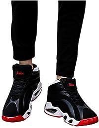 Zapatos de hombre JiaMeng Zapatillas de Deporte para Hombres Atlético Moda Casual de Baloncesto Transpirables Ligeras Zapatillas Deportivas Calzado de Correr Informal
