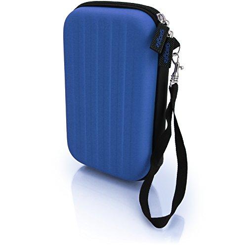 igadgitz Azul EVA Rígida Funda Carcasa para Nuevo Nintendo 3DS XL (Todas las Versiones) & 2DS XL 2017 Viaje Case Cover con Correa