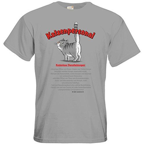 getshirts - RAHMENLOS® Geschenke - T-Shirt - Katzenservice - Kostenlose Dienstleistungen pacific grey