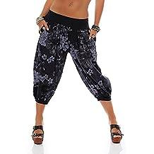 Beladla Pantalones Mujer Chandal Casual Trouser Pants Harem Boho De Impreso Cintura De CordóN PantalóN Harem