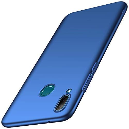 AOYIY Huawei Y7 (2019) Hülle, Bumper Cover PC Plastik Harte Case Ultra Slim Matt Handyhülle Schutzhülle Für Huawei Y7 (2019)-Blau