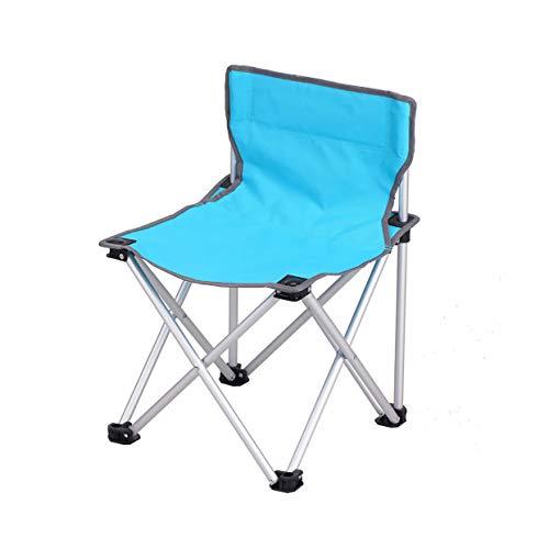 MLX Chaise Portable, Chaise De Pêche Chaise Pliante Pliante Tabouret Loisirs Chaise Extérieure Pliante (40 × 40 × 57cm) (Couleur : Bleu)