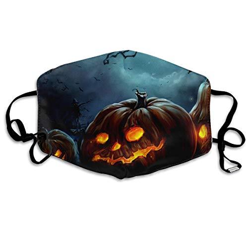 Vbnbvn Unisex Mundmaske,Wiederverwendbar Anti Staub Schutzhülle,Gesichtsmaske Happy Halloween Pumpkins Anti Pollution Washable Reusable Mouth Masks