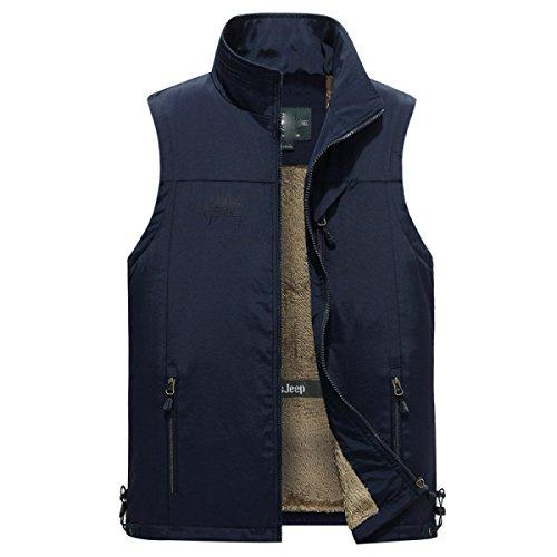 GLF Vest Sezione Sottile Maschio Primavera E Estate Collare Collare Casual Mezzo-anziano Multi-tasca Gilet Giacca Giacca Uomini B