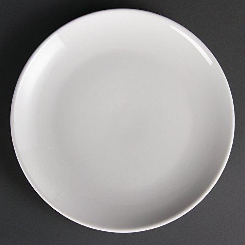 Assiettes Coupes Blanches 250Mm Olympia 25Cm. 12 Pièces. Vaisselle De Table Bords Arrondis