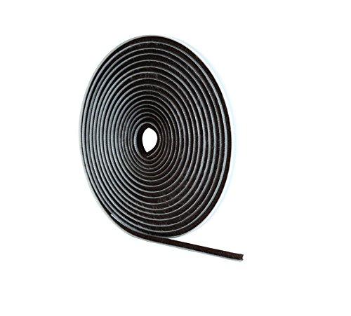 Stormguard - paraspifferi con spazzole per porta, 5 + 1m, lunghezza 5 m, larghezza 5 mm, altezza 6 mm, colore: grigio
