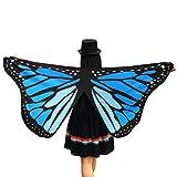 ITISME Châle Femme Fille Soft Fabric Butterfly Wings Fairy Ladies Accessoire Costume Nymph Pixie Châle Cape