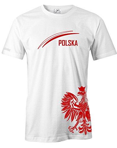Jayess WM 2018 - POLEN - POLSKA ADLER - FAN SHIRT - HERREN - T-SHIRT in Weiss by Gr. S