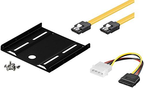 """XTC, kit di montaggio per scheda SSD interna incluso  telaio di montaggio per adattatore da incasso da 6,4 cm, per vano da circa 8,89 cm (compatibile fino a 2 dischi rigidi da 2,5\"""" HDD o SSD), 1 pezzo"""