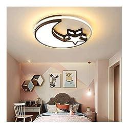 Wandlampe Kronleuchter Retro-Stehlampe Touch-Bedsi LED-Deckenleuchte Dimmbare Kinderlampe mit Fernbedienung Moderne Mond-Stern-Design Mädchen Jugend Schlafzimmer Deco-Lampen-Metall Acryl-Schirm-Decken