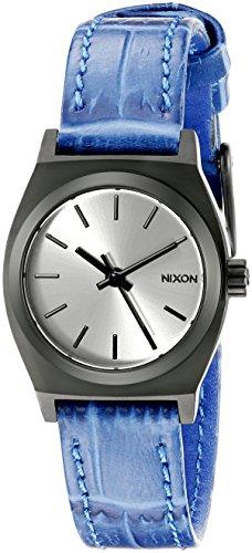 Nixon Time Teller Femme 26mm Bracelet Cuir Bleu Quartz Montre A509-2131-00