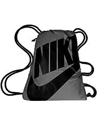 Nike Heritage Gymsack Mochila, Mujer, Gris (Dark Grey / Black / Black), Talla Única