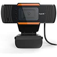 HAVIT PC Webcam Computer Mini Camera with Microphone for Laptops and Desktop, Plug and Play (N5086)