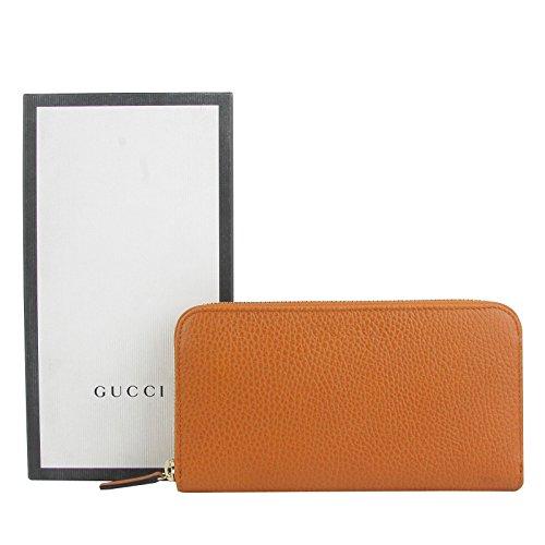 11c99d90443e Gucci Zip Around Dark Orange Leather Long/Continental Wallet 363423 7614