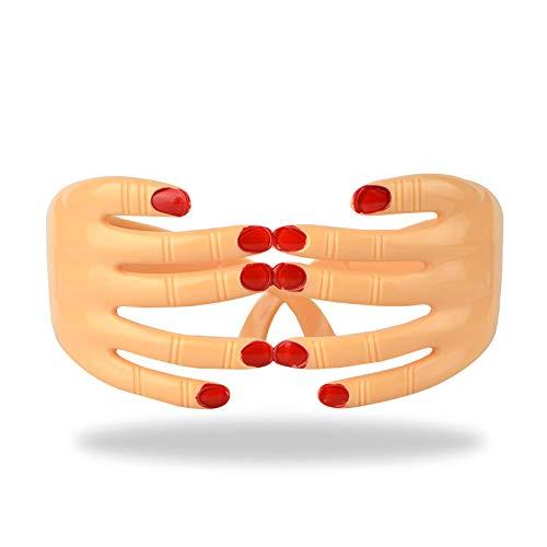 BEAYPINE Finger Form Brille Plastik augenklappe hände Brillen für Halloween - kostüm - Party Supplies lustig Spielzeug
