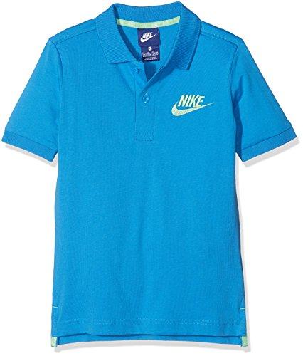 Nike B NSW Polo Matchup T-Shirt, Kinder Light Photo Blue/Tourmaline