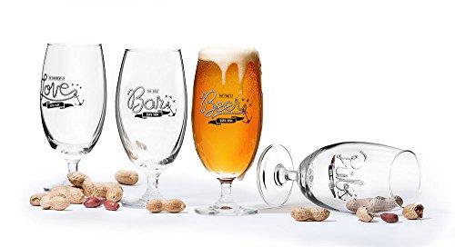 Sagaform 5017327 4 pack Club Biergläser Geschenkset, Glas, Transparent Sagaform Club