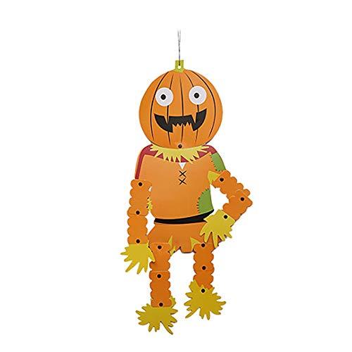 JAGENIE Halloween-Zubehör 3D Halloween Papier DIY Hängeanhänger Skelett Ornament Party Supplies Decor, Papier, D, Reference Picture or Product - Diy Piraten Kostüm Zubehör