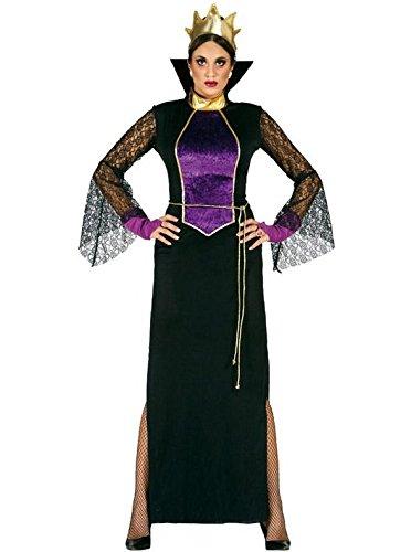 Guirca- Costume Grimilde Regina Strega Biancaneve, Colore Nero, Viola, Taglia única, 80951