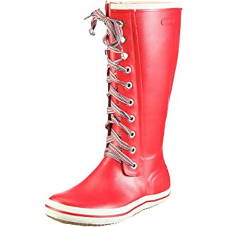 Viking Retro w striped laces, Damen Langschaft Gummistiefel, Rot (10), 35 EU (2.5 Damen UK)