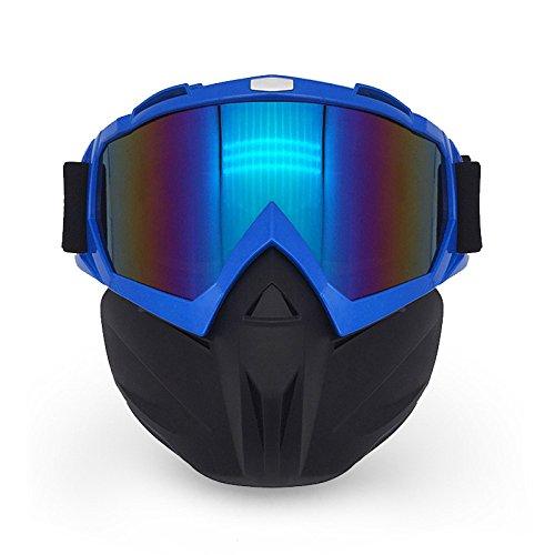 LI DANNA Motorrad-Ausrüstung Schutzbrille Maske Schützende Winddichte Brille Off-Road-staubdicht Reiten Helm Brille,A -