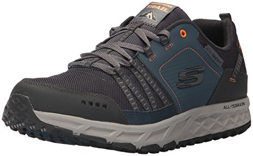 Skechers Escape Plan, Scarpe Running Uomo, Blu (Navy/Orange), 46 EU
