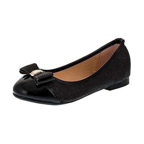 allerina Schuhe in vielen Farben für Party und Freizeit M283sw Schwarz Gr.28 ()
