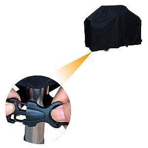 Funda para Barbacoa Impermeable, Awnic Funda Protector para Barbacoa de Gas 210T Tafetán Resistente 145 x 61 x 117cm