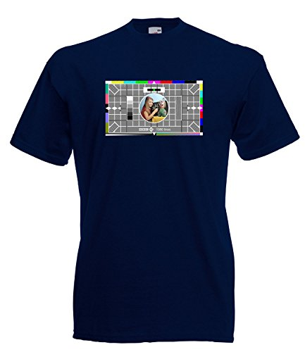BBC Test Card Inspired T-Shirt - high quality - many colours - S to 3XL