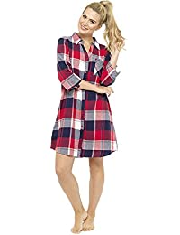da8342d434 Foxbury Ladies Yarn Dyed Plaid Check Cotton Rich Nightdress Nighty Sleepwear