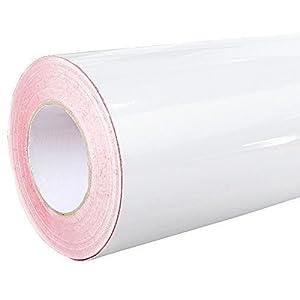 4,28€/m² Rapid Teck® Glanz Folie 010 Weiss - Klebefolie - 5m x 126cm - Folie selbstklebend - Plotterfolie - auch als Moebelfolie