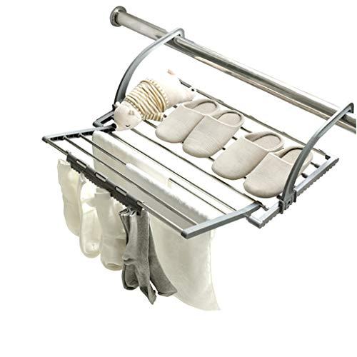 Asciugamano appeso radiatore airer asciugamano in acciaio inox abbigliamento da lavoro pieghevole asciugabiancheria per lavanderia essiccatore 11 supporto per barra da esterno per esterno o balcone co