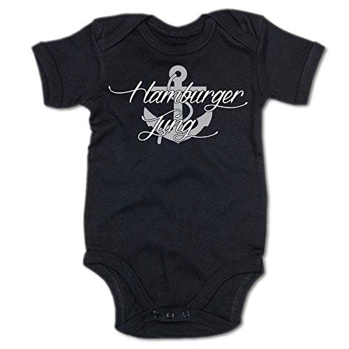 G-graphics Hamburger Jung Baby Body Suit Strampler 250.0107 (3-6 Monate, schwarz)