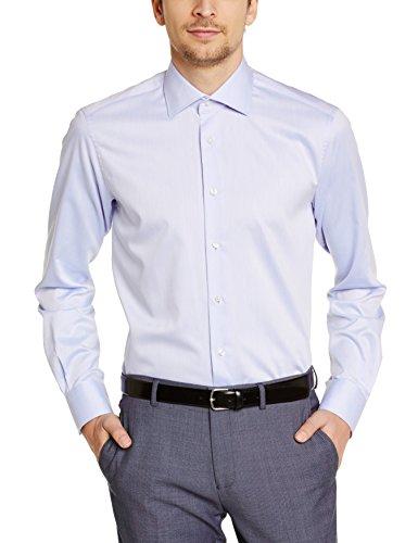Tommy Hilfiger Tailored JAK SHTFKS99004 - Chemise habillée - Coupe droite - Col italien - Manches longues - Homme Bleu (410)
